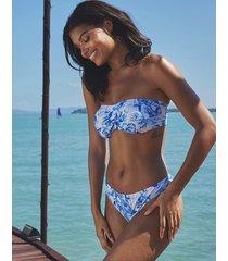 toulouse mindful non-wired twist bandeau bikini top
