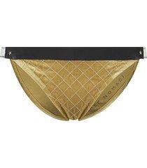 bikini broekje velvet  goud