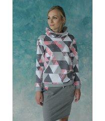 radość trójkątowa - bluza kominowa