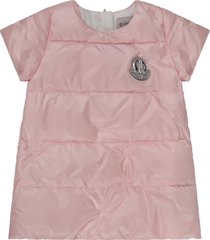 moncler pink dress for babygirl with silver patch