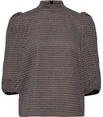 vivgz blouse ma20 blouse lange mouwen bruin gestuz