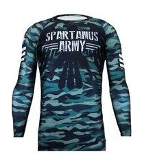rash guard army spartanus fightwear verde