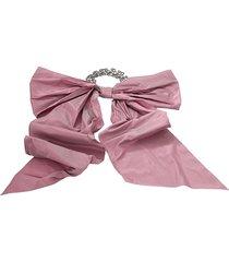 oscar de la renta taffeta bow choker - pink
