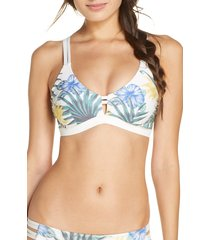 women's hurley max lanai scoop surf bikini top