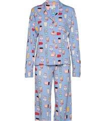 pyjama long pyjamas blå pj salvage