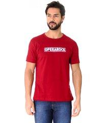 camiseta opera rock t-shirt bordã´ - vermelho - masculino - algodã£o - dafiti