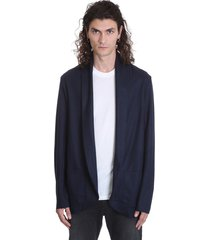 attachment blazer in blue wool