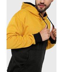 buzo hoodie para hombre mostaza negro corte inglés