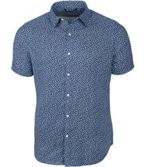 cutter & buck men's windward mineral print short sleeve shirt