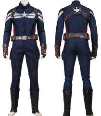 captain america 2 winter soldier superhero outfit men halloween costume