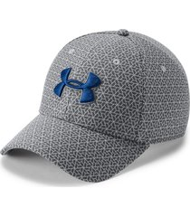 gorra under armour heathered blitzing 3.0-gris