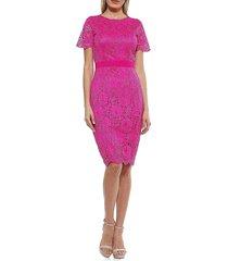 alexia admor women's lace sheath dress - magenta - size 12