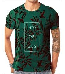 hombres verano casual algodón suave letra tropical camiseta