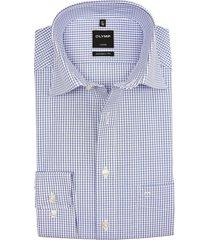 olymp luxor modern fit overhemd klassiek geruit