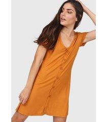 vestido camel zaf