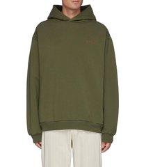 soft focus twisted logo print hoodie
