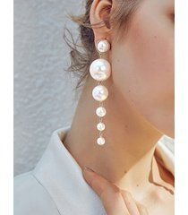 perla blanca vendimia pendientes