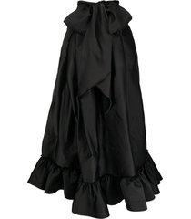 az factory switchwear duchesse signature bow long skirt - black