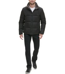 kenneth cole new york men's mixed media puffer jacket