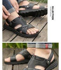 sandalias de hombre en piel antideslizante.