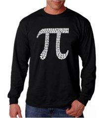 la pop art men's word art long sleeve t-shirt - 100 digits of pi