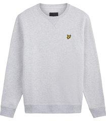 lyle and scott ml424vtr lyle en scott crew neck sweatshirt, d24 light grey marl