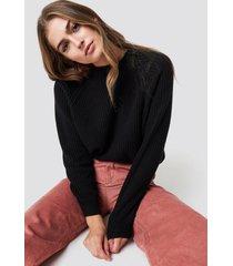 mango dunvel sweater - black