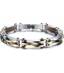 pulsera para hombre acero cadena 22cm plateado dorado 000