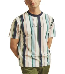 guess men's originals vertical stripe t-shirt
