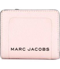 marc jacobs carteira box com efeito craquelado - rosa