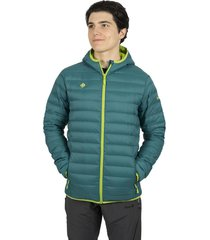 chaqueta ultraligera sindu verde azulado izas outdoor