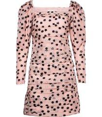 nala, 1012 meadow organza kort klänning rosa stine goya