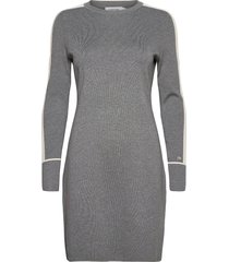 ls knitted sweater dress kort klänning grå calvin klein