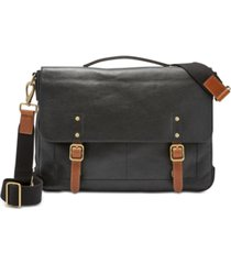 fossil men's defender leather portfolio briefcase