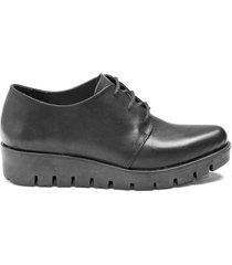 zapato de cuero negro albany
