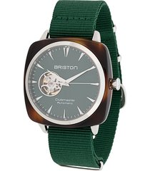 briston watches clubmaster iconic 40mm watch - green
