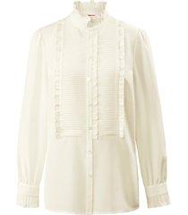 blouse van 100% zijde met lange mouwen van laura biagiotti roma wit