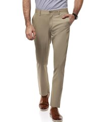 pantalon twill bagneaux slim khaki new man