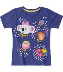 camiseta mundo ripilica - 11400080i - azul - menina - dafiti