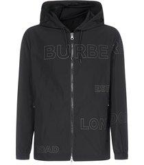 burberry horseferry-print taffeta hooded jacket