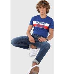 camiseta azul royal-blanco-rojo tommy jeans