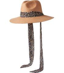 women's open edit scarf strap panama hat - brown