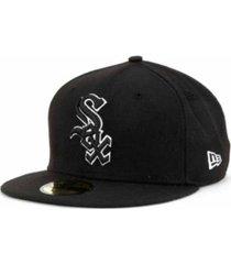 new era chicago white sox black and white fashion 59fifty cap