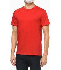 camiseta básica liquid cotton dec redondo - vermelho - p