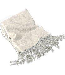 forzieri designer scarves, forzieri white pashmina shawl