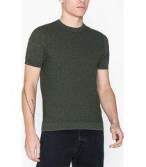 topman khaki short sleeve stitch jumper t-shirts & linnen khaki