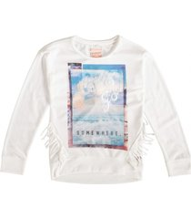 indian blue dunnere zachte off white sweater