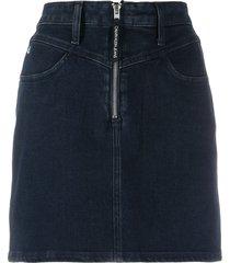 calvin klein jeans denim mini skirt - blue