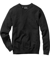 maglione con scollo a v (nero) - bpc selection