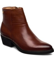 dashed w leather sho shoes boots ankle boots ankle boots flat heel brun sneaky steve